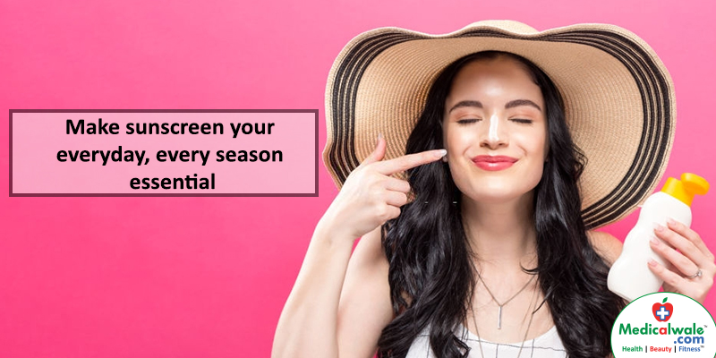 Make sunscreen your everyday, every season essential